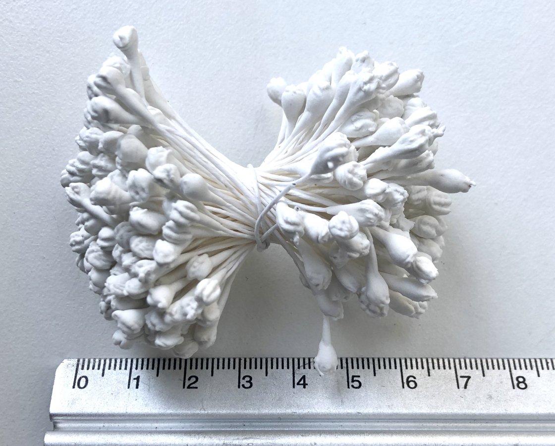 Putekšņlapas (lielas) - baltas 4 mm