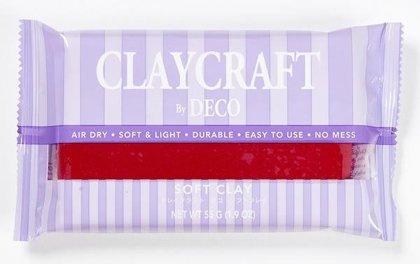 CLAYCRAFT™ by DECO® polimēra māls (sarkans)
