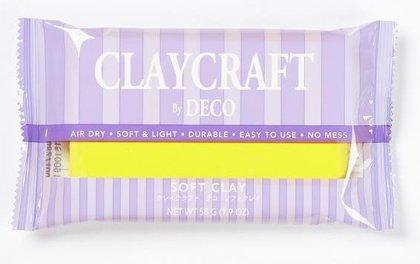 CLAYCRAFT™ by DECO® polimēra māls (dzeltens)